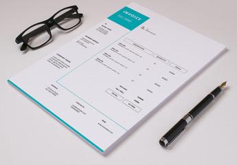 Minimalist Business Invoice Layout 2