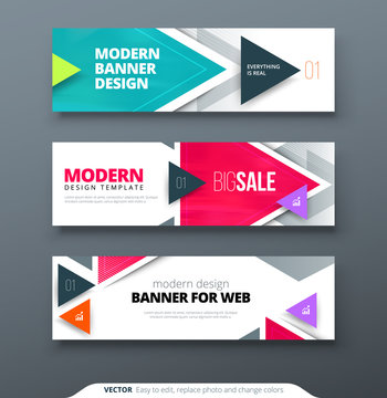 Banner design vector abstract geometric design banner web template.