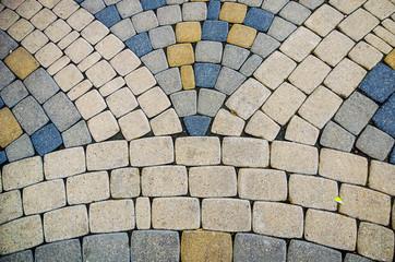 Stock photo of the cobblestone pattern