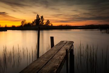 Dock in sunset