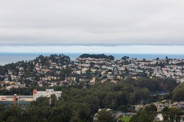 Foggy San Francisco California at Twin Peaks