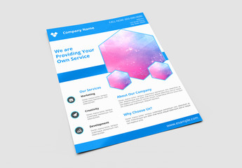 Business Brochure with Blue Accents Layout 6