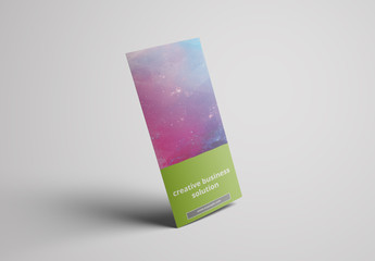 Trifold Brochure Layout with Green Accents 1