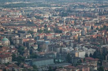 Bergamo city, Italy, top view