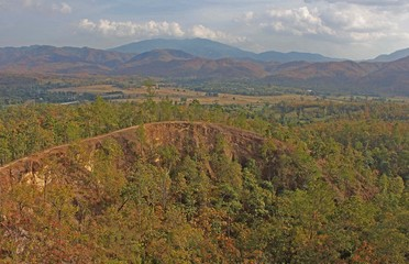 View of the Pai Canyon in Thailand