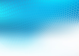 Abstract high resolution illustration of blue faded hexagonal/geometric layered design background perfect for Medical, Healthcare and Science and many other Businesses Plenty of copy space.