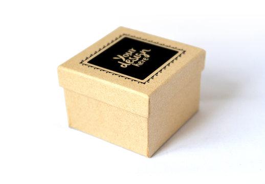 Cardboard Gift Box Mockup 1