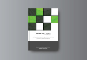 Geometric Book/Report Cover Layout 21
