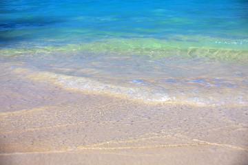 sea surf on a sand beach