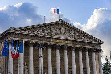 National assembly in the city of Paris, France. Assemblee Nationale