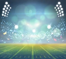 lights at night and stadium 3D