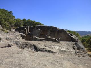 Ruinas de Bobastro, Ardales, Guadalteba (Málaga) en Andalucia,España. Conjunto arqueológico medieval de los siglos noveno y décimo
