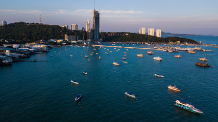 Aerial view of  Pattaya , Thailand