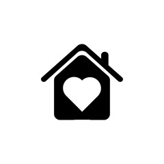 house with love icon. Elements of real estate transactions icon for concept and web apps. Illustration  icon for website design and development, app development. Premium icon