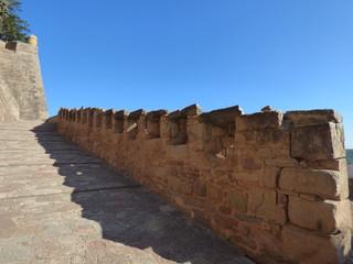 Castillo en Cardona, pueblo de la provincia de Barcelona, en la comarca del Bages (Cataluña,España)
