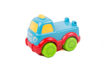 Kid truck toy isolated on white background