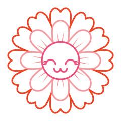 flower kawaii cartoon cute petals vector illustration