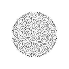 line circle with graphic seamless decoration background pattern