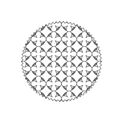 line circle with graphic seamless pattern background style