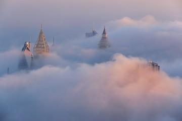 cloudy morning in Dubai,UAE