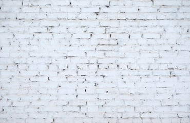 White rustic brick wall for texture or background