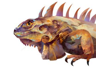 painted iguana lizard