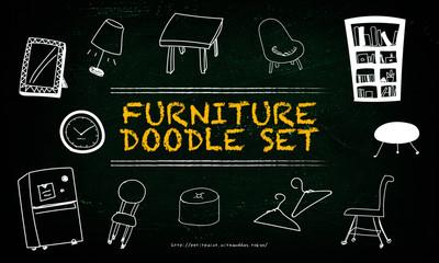 家具の手描きイラスト