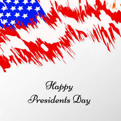 illustration of USA Presidents Day background