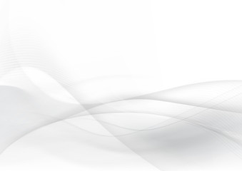 Curve and blend gray and white abstract background 005