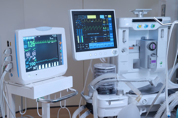 equipment and medical devices in modern operating room Fototapete