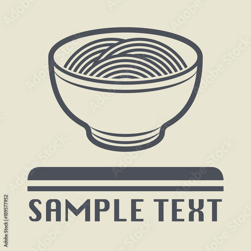 china or asia food dish icon or sign stock image and royalty free