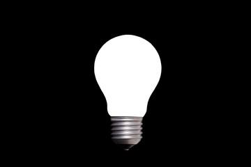 Lightbulb isolated on black background