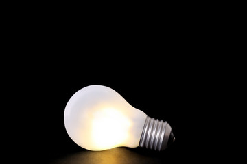 Lightbulb isolated on black background