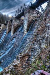 The dam on the river Bolshaya Satka. Russia