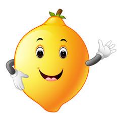 lemon with face