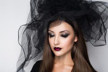 Halloween gothic woman