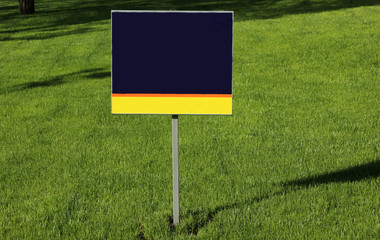 Blank Sign and Grass
