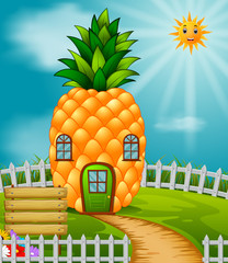 Pineapple house in garden