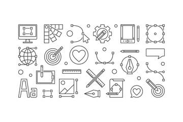 Graphic design minimal vector illustration or banner