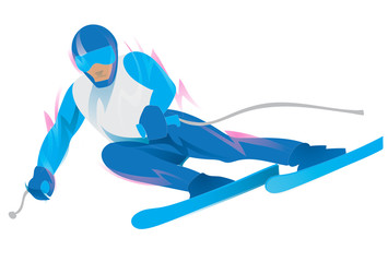 Slalom Skiing Symbol