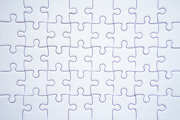 Top view of jigsaw puzzle.