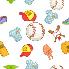 Baseball pattern, cartoon style