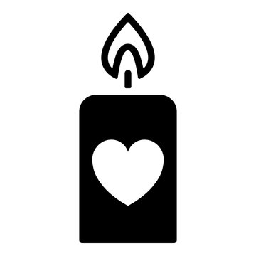 Valentinstag Icon - Kerze