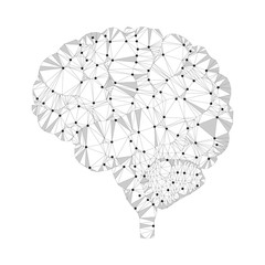 Shares of the brain, polygon, dots 4