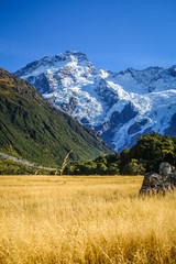 Foto auf Acrylglas Neuseeland Mount Cook valley landscape, New Zealand