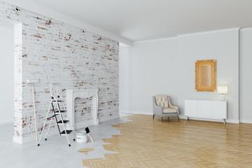 3d beautiful  interior room