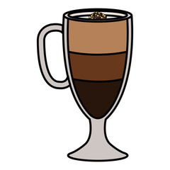 iced delicious coffee icon