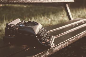 vintage old typewriter