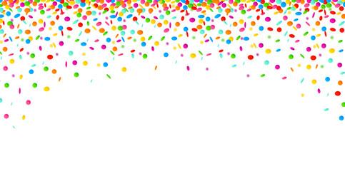 konfettiregen bunt