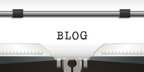 blog - infos - information - message - news - journal - machine à écrire - annonce - mot